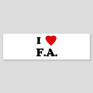 I Love F.A. Bumper Sticker