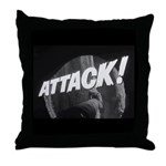 ATTACK! Throw Pillow