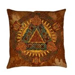 Celtic Pyramid Mandala Everyday Pillow