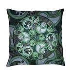Celtic Stormy Sea Mandala Everyday Pillow