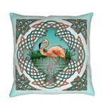 Celtic Flamingo Everyday Pillow