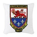 USS ELMER MONTGOMERY Woven Throw Pillow