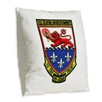 USS ELMER MONTGOMERY Burlap Throw Pillow
