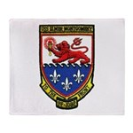 USS ELMER MONTGOMERY Throw Blanket