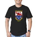 USS ELMER MONTGOMERY Men's Fitted T-Shirt (dark)