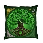 Circle Celtic Tree of Life Everyday Pillow