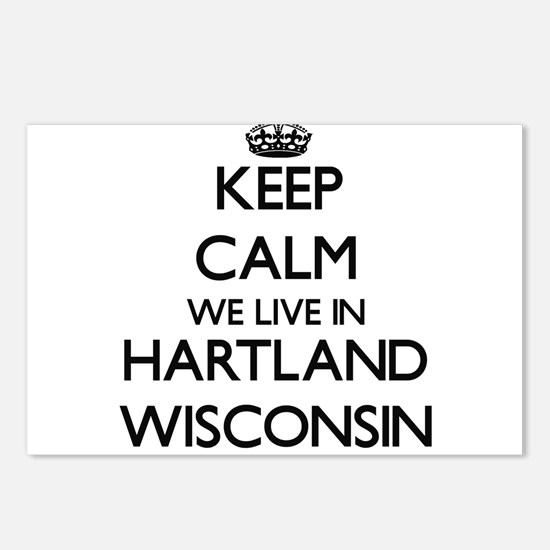 Keep calm we live in Hart Postcards (Package of 8)