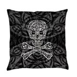 Celtic Skull and Crossbones Everyday Pillow