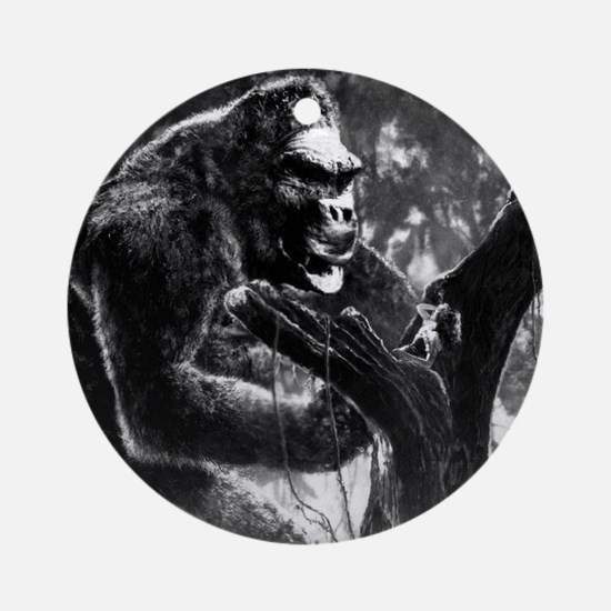 vintage king kong ape photo Round Ornament