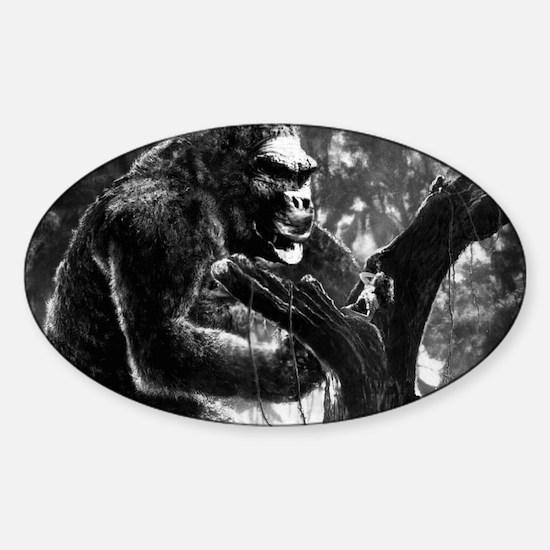 vintage king kong ape photo Sticker (Oval)