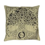 Circle Celtic Tree of Life Ink Everyday Pillow