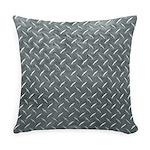 Gray Diamond Plate Pattern Everyday Pillow