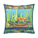 Tie-Dye Turtle Everyday Pillow