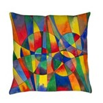 Color Shards Abstract Everyday Pillow