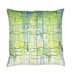 Electric Rain Abstract Everyday Pillow