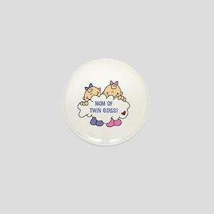 Mom of Twin Girls Mini Button