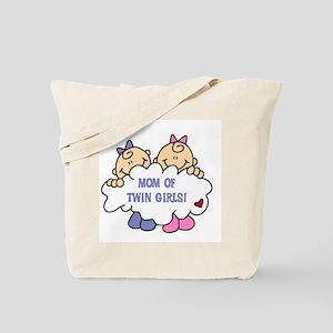 Mom of Twin Girls Tote Bag