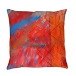 Crazy Vibrance Abstract Everyday Pillow