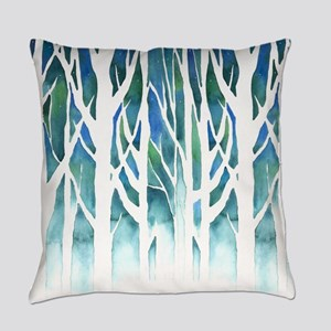 Winter Silhouette Everyday Pillow