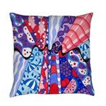 Vintage Fabrics Abstract Everyday Pillow