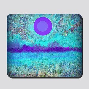 Purple Moon and Wild Flowers Mousepad