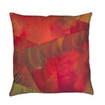 Autumn Fury Abstract Everyday Pillow