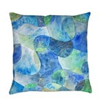 Aquatic Abstract Everyday Pillow