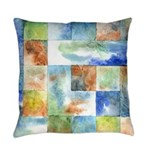 Slated Watercolor Everyday Pillow