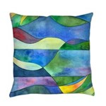 Jungle River Abstract Everyday Pillow