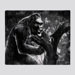 vintage king kong ape photo Throw Blanket