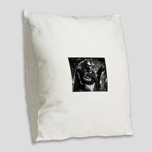 vintage king kong ape photo Burlap Throw Pillow