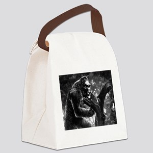 vintage king kong ape photo Canvas Lunch Bag