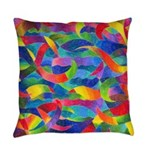 Cosmic Ribbons Everyday Pillow