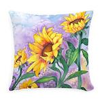 Sunny Sunflowers Everyday Pillow