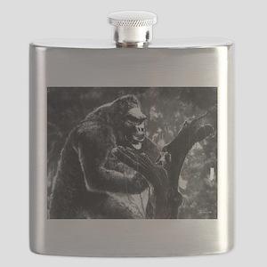 vintage king kong ape photo Flask