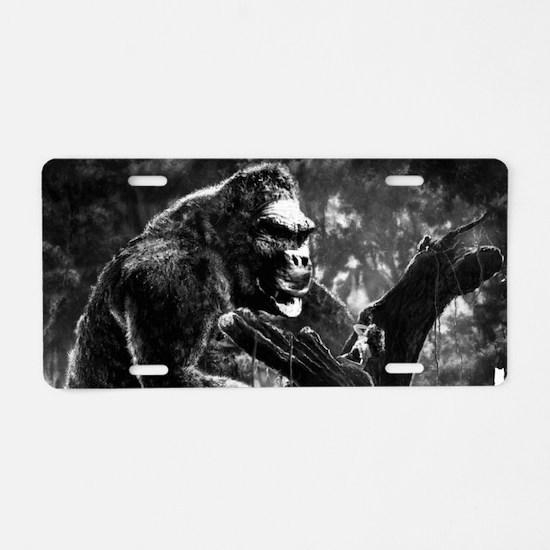 vintage king kong ape photo Aluminum License Plate