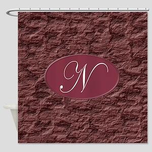 Monogram N Shower Curtain
