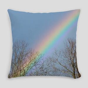 Rainbow Tree Tops Everyday Pillow