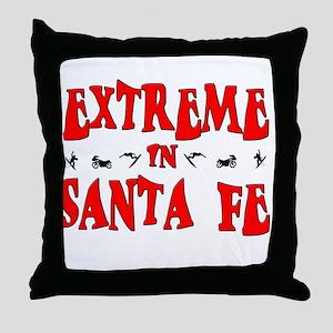 Extreme Santa Fe Throw Pillow
