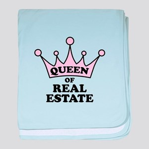 Queen of Real Estate baby blanket