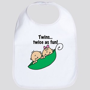 Twins Twice as Fun Bib