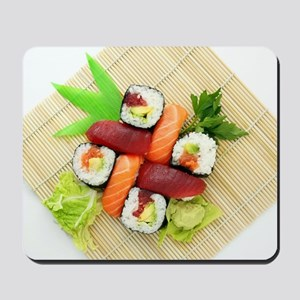sushi asian japanese food photo Mousepad