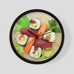 sushi asian japanese food photo Wall Clock