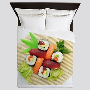 sushi asian japanese food photo Queen Duvet