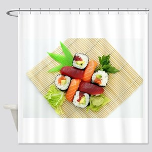 sushi asian japanese food photo Shower Curtain