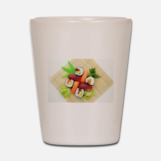 sushi asian japanese food photo Shot Glass