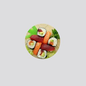 sushi asian japanese food photo Mini Button