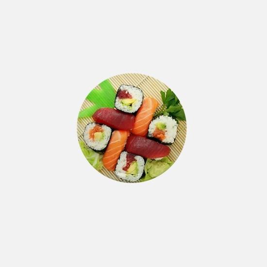 sushi asian japanese food photo Mini Button