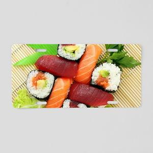 sushi asian japanese food p Aluminum License Plate