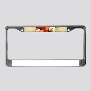 sushi asian japanese food phot License Plate Frame
